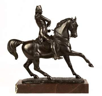 Thomas Thornycroft (British 1815-1885)Bronze of George Washington on Horseback