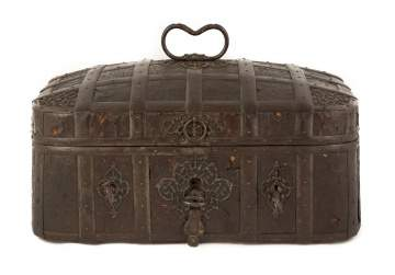 17/18th Century Spanish Wrought Iron Strong Box