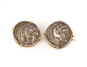Alexander The Great Silver Tetradrachm Cuff Links