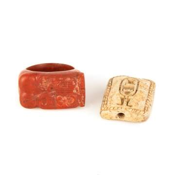 Egyptian Jasper Ring and Faience