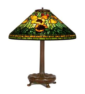 "Tiffany Studios, New York,  ""Poppy"" Table Lamp"
