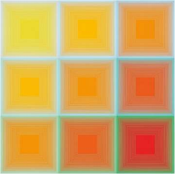 Richard Anuszkiewicz (b. 1930) Spectral 9 - A Variable Multiple