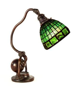 Tiffany Studios, NY Turtleback Counter Balance  Desk Lamp