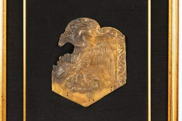 Three Rare Scythian Silver Gilt Reposse Plaques
