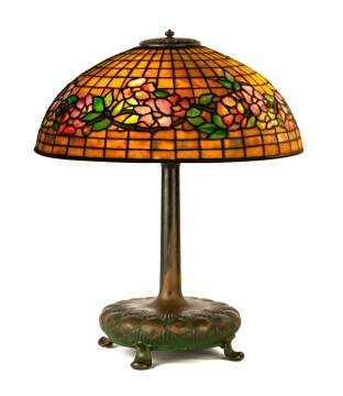 "Tiffany Studios, New York, ""Banded Dogwood"" Table Lamp"
