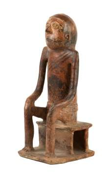 Seated Peruvian, Pre-Columbian Figure