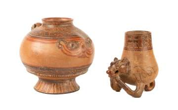 Two Pre-Columbian Vessels with Figures