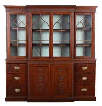 18th Century English Mahogany Breakfront