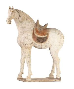 Large Grey Pottery Horse, Tang Dynasty (618-907)