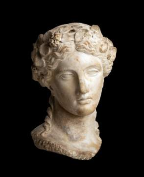 Marble Head of Dionysos
