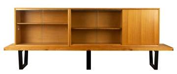 George Nelson & Associates Slat Bench with Bookcases