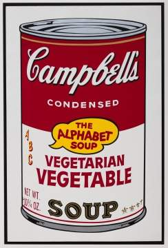 "Andy Warhol (American, 1928-1987) ""Vegetarian Vegetable, from Campbell's Soup II"""