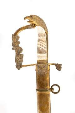 American Officer's Sword with Eagle Head Handle
