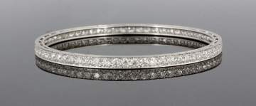 8 Carat Tiffany & Co. Platinum Bangle Bracelet