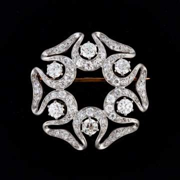 Tiffany & Co. Platinum Vintage Art Nouveau Brooch