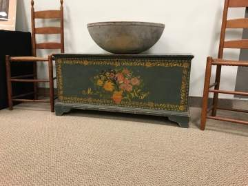 New York State Paint Decorated Blanket Chest