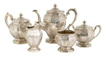 Wm. B. Durgin Co. Five Piece Sterling Tea Set