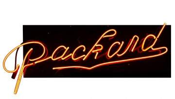 Vintage Neon Packard Sign