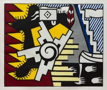 "Roy Lichtenstein (American, 1923-1997) ""American Indian Theme II"""