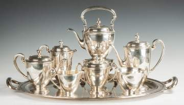 Tiffany & Co. Sterling Silver 7-Piece Tea Set with Matching Tray