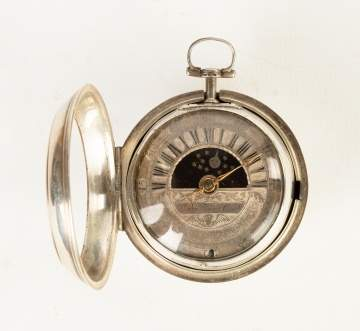 Skeletonized Silver Pocket Watch