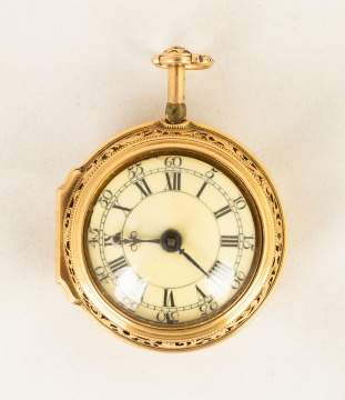 Early English Gold Pocket Watch