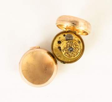 English Gold Pocket Watch