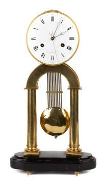 French Skeleton Clock Signed A. Paris