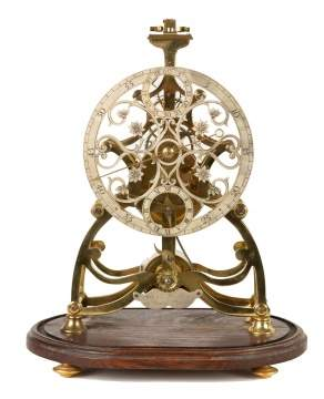 Rare Alex Watkins Balance Wheel Skeleton Clock