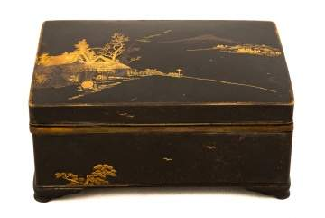 Japanese Mixed Metal Covered Box