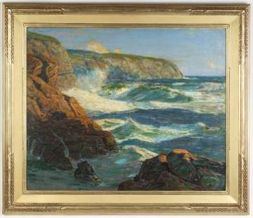 "John J. Inglis (Irish, 1867 - 1946) ""A nor-easter Irish coast"" Painting"