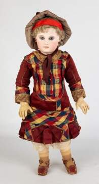 E. Jumeau #9 Bisque Doll