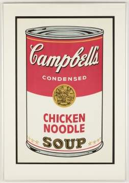 Andy Warhol (American, 1928 - 1987) Cambell's Soup I: Chicken Noodle, 1968.