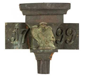 Architectural Copper Downspout with Eagle