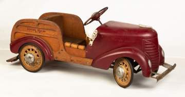 Vintage Woody Station Wagon Pedal Car