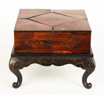 Japanese Inlaid and Laquered Covered Boxes