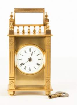 Brass Queen Anne Style Carriage Clock