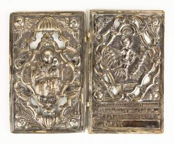 Pair of 18th Century Armenian Silver Bible Covers