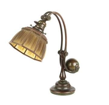 Tiffany Studios, NY Linen Fold Counter Balance  Lamp