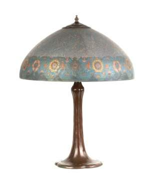 Handel Reverse Painted Arts and Crafts Style Lamp