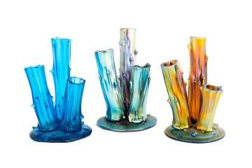 Three Steuben Stump Vases