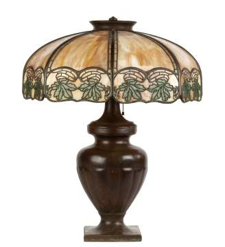 Handel Arts and Crafts Style Panel Lamp