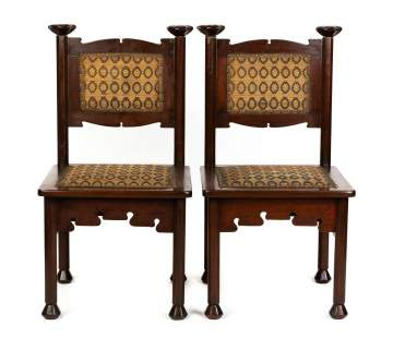 Pair of Rohlfs Mahogany Side Chairs