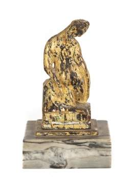 Arthur B Davies (American, 1862 - 1928)  Maquette Sculpture on Marble Base