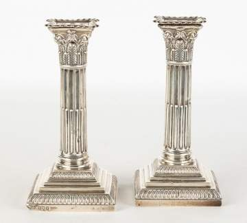 Pair of Classical Sterling Candle Sticks