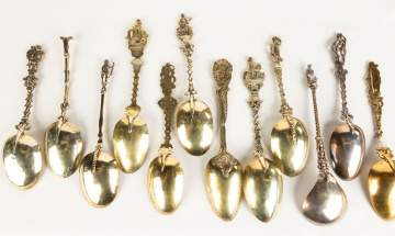 Twelve Early Dutch Silver Figural Spoons