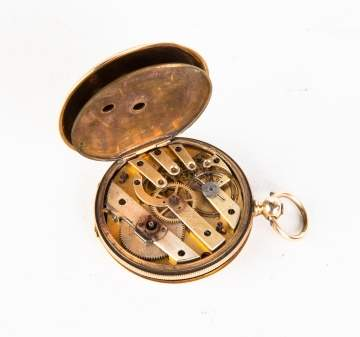 Jules Mathey 14K Gold Pocket Watch