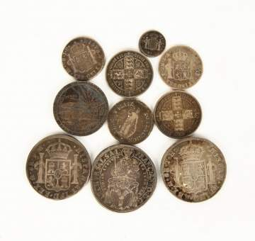 Group of 18th & Early 19th Century Continental Silver Coins