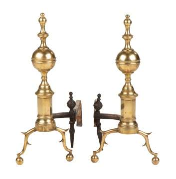 Pair of 18th Century New York Andirons