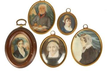 Group of 19th Century Miniature Watercolors